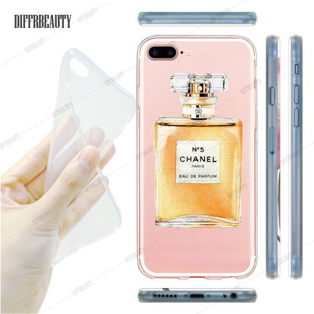 detailed look ba757 3bf54 Ultra Thin COCO Perfume Phone Case Coque for iPhone 6 7 5S 6S 6Plus 7Plus  Soft Silicone Clear Transparent TPU Back Cover Fundas