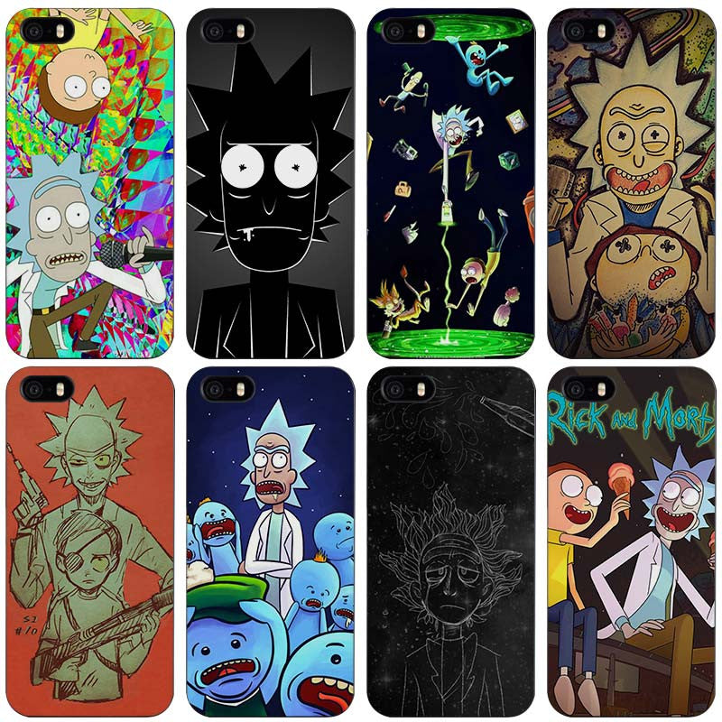 Rick and Morty Season Black Plastic Case Cover Shell for iPhone Apple 4 4s 5  5s SE 5c 6 6s 7 Plus e804b0021be