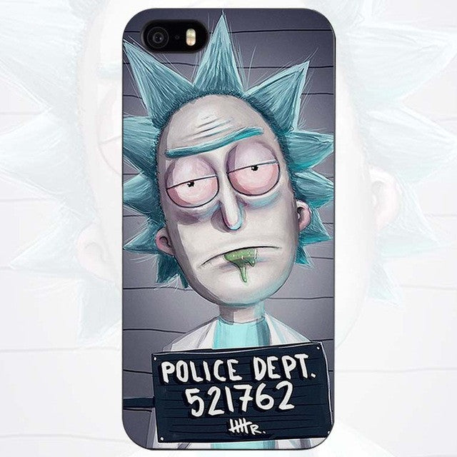 low priced ad387 c8720 Rick and Morty Season Black Plastic Case Cover Shell for iPhone Apple 4 4s  5 5s SE 5c 6 6s 7 Plus