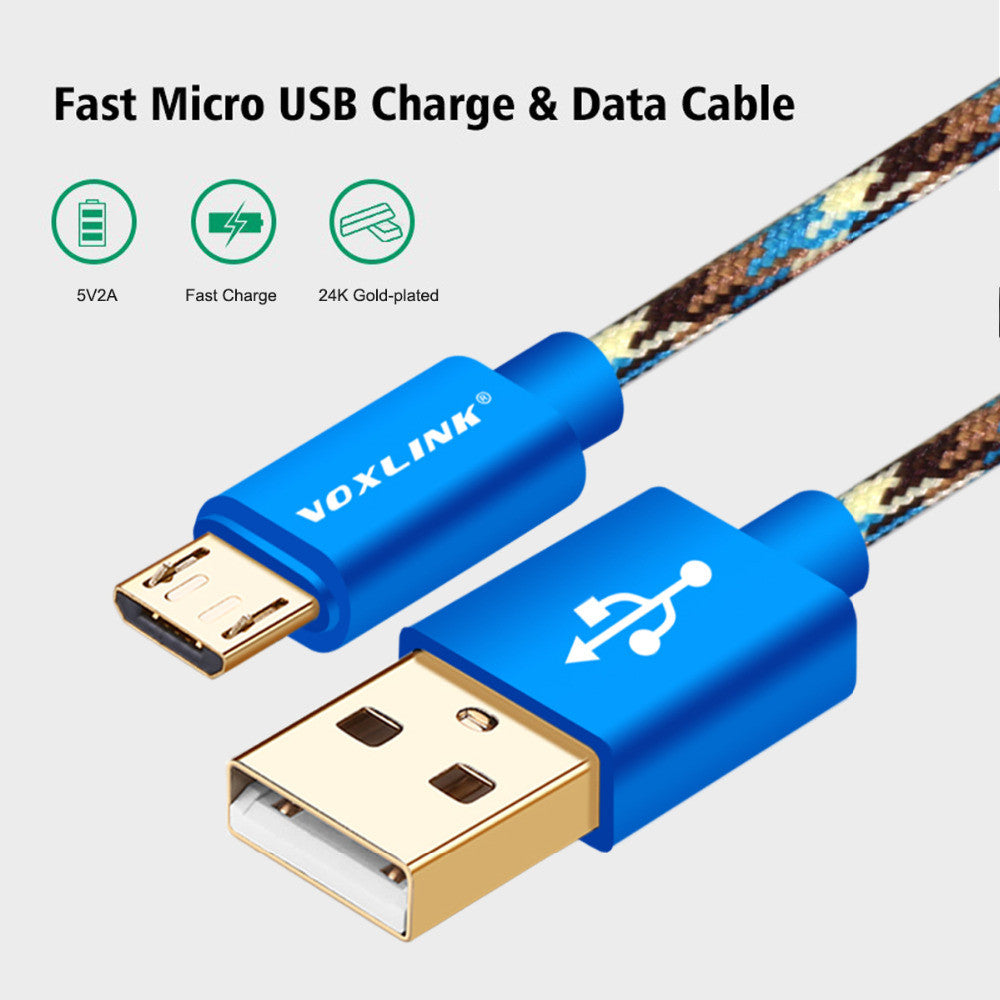 Voxlink Micro Usb Cables Fast Charging Power Bank Sync Data Kabel Xiaomi Original Cable For Samsung Galaxy S7 S6 S5 S4 S3 Htc Sony Huawei