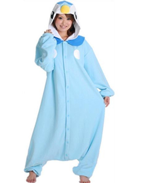 94d723be8d0 Anime Pokemon Blue Penguin Piplup Cosplay Hooded Pajamas Hoodie Adult Women  Unisex Fleece Onesies Party Costume Halloween Free