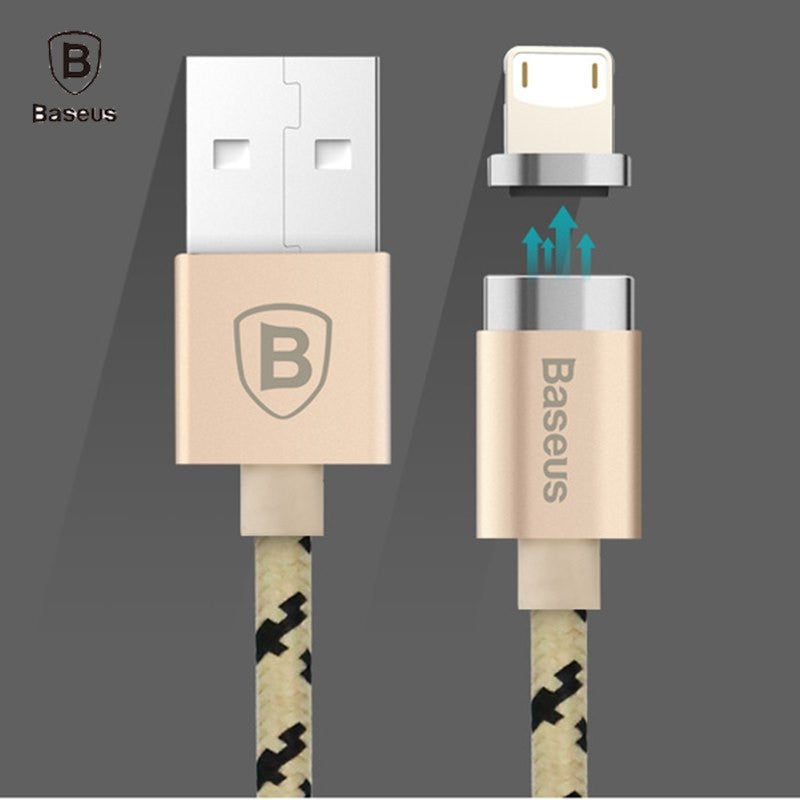 big sale 26d8f 2102c Baseus Magnetic Charging Cable Micro USB Cable Adapter Data Sync For iPhone  7 6S Plus 5S SE iPad Air mini Samsung Magnet Charger