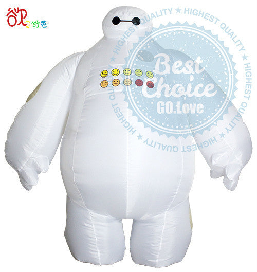 1b8126ee056a Halloween Big Hero 6 Inflatable Baymax Costume for Women or Men Adult Fancy  Suit Mascot Baymax 2m Large Mascot Cosplay