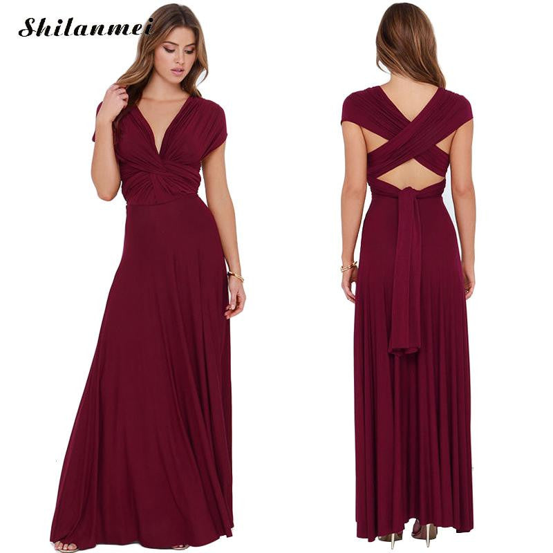 1629d32f86de 2016 Summer Sexy Women Maxi Dress Red Beach Long Bandage Multiway  Convertible Dresses Infinity Wrap Robe Longue Femme Lady Dress