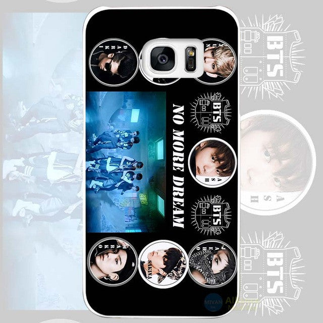 promo code 22241 6f928 Bangtan BTS Boys Hard White Coque Shell Case Cover Phone Cases for Samsung  Galaxy S4 S5 S6 S7 Edge Plus