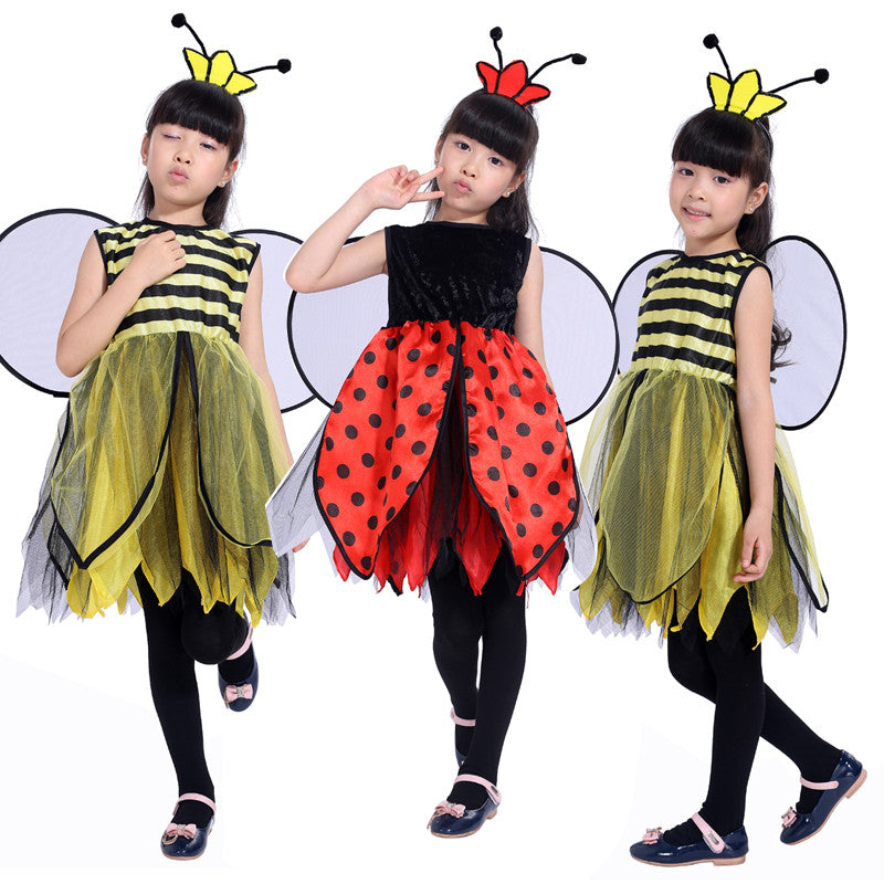 new free shipping childrenu0027s masquerade party Bee costume for girls Bee ladybug Halloween costume Pretty  sc 1 st  TakeSupply.com & new free shipping childrenu0027s masquerade party Bee costume for girls ...