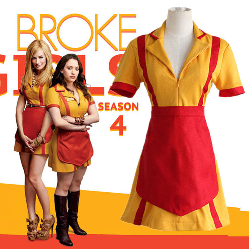 Max Or Caroline Cosplay Costumes 2 Broke Girls Tv Series The Same