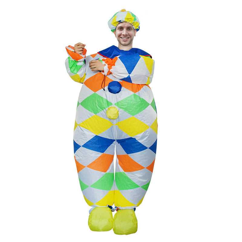New Arrival Inflatable Clown Costume Women Men Girls Sexy