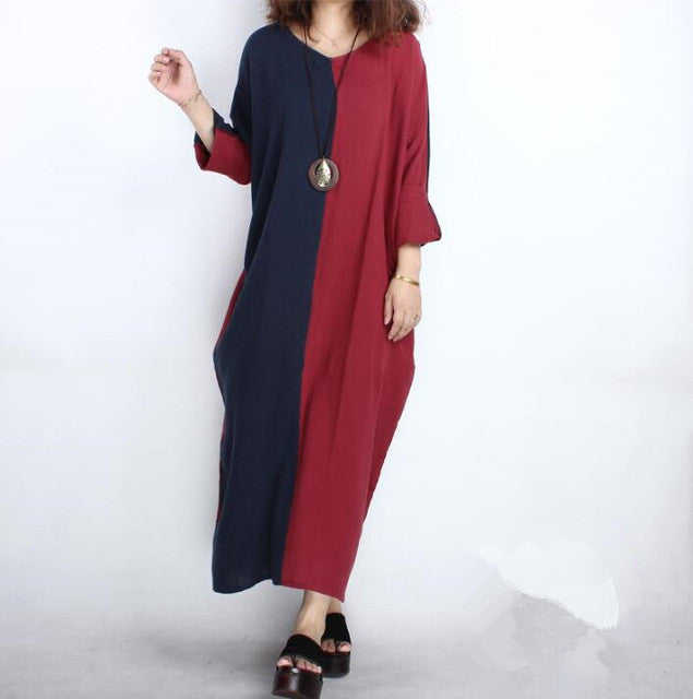 4691cddbf4d 2017 Summer Autumn women long sleeve cotton linen dress