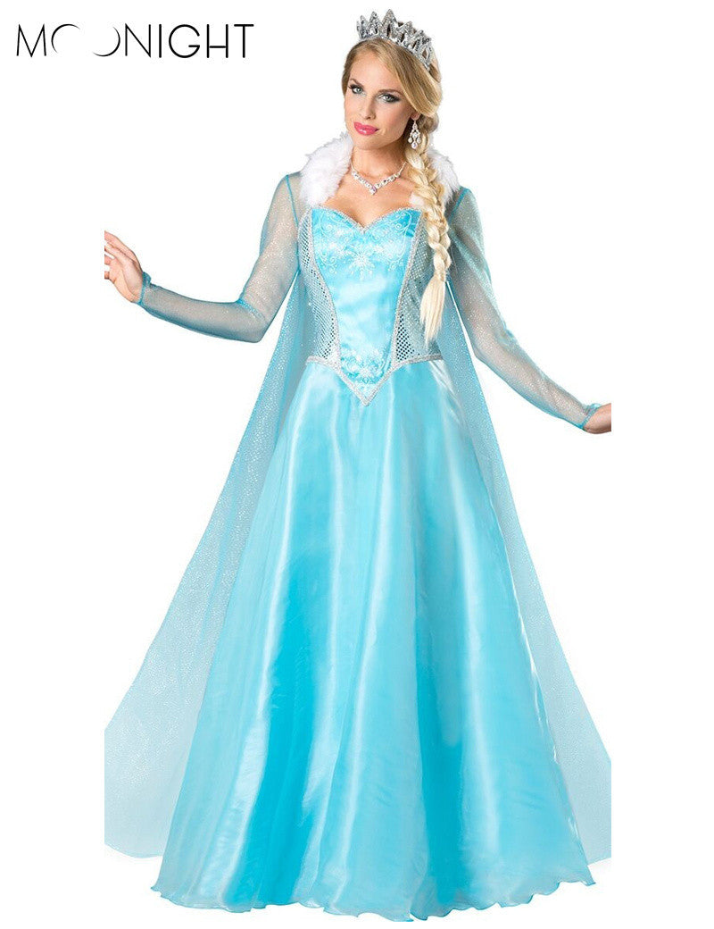 MOONIGHT Princess Anna Elsa Queen Girls Cosplay Costume Party Formal ...