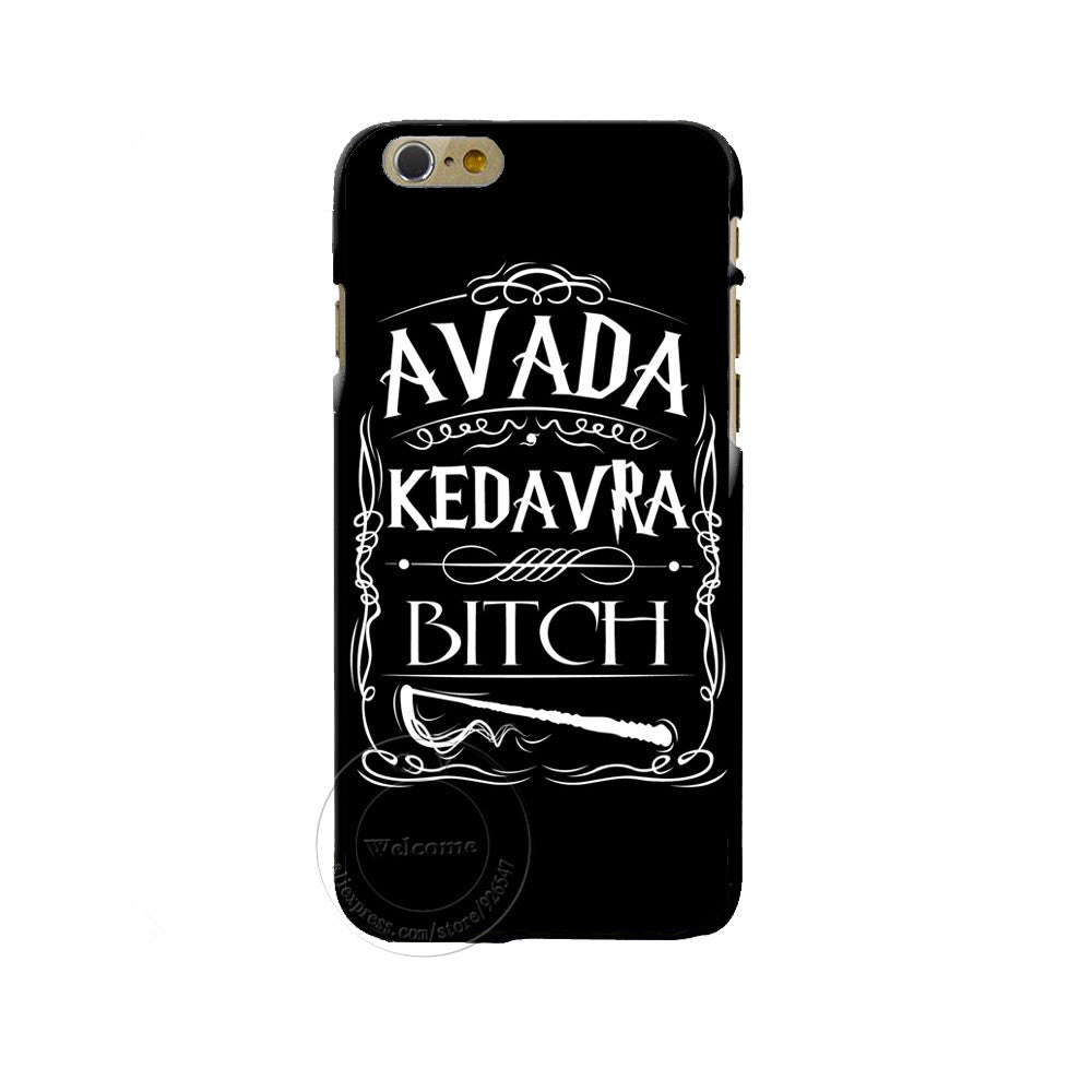 new concept 94c67 d3545 Avada Kedavra Bitch shirt for Harry Potter Design phone cover cases For  Apple iphone 4 4S 5 5S 5C 6 6s 7 Plus 6SPlus Hard Shell