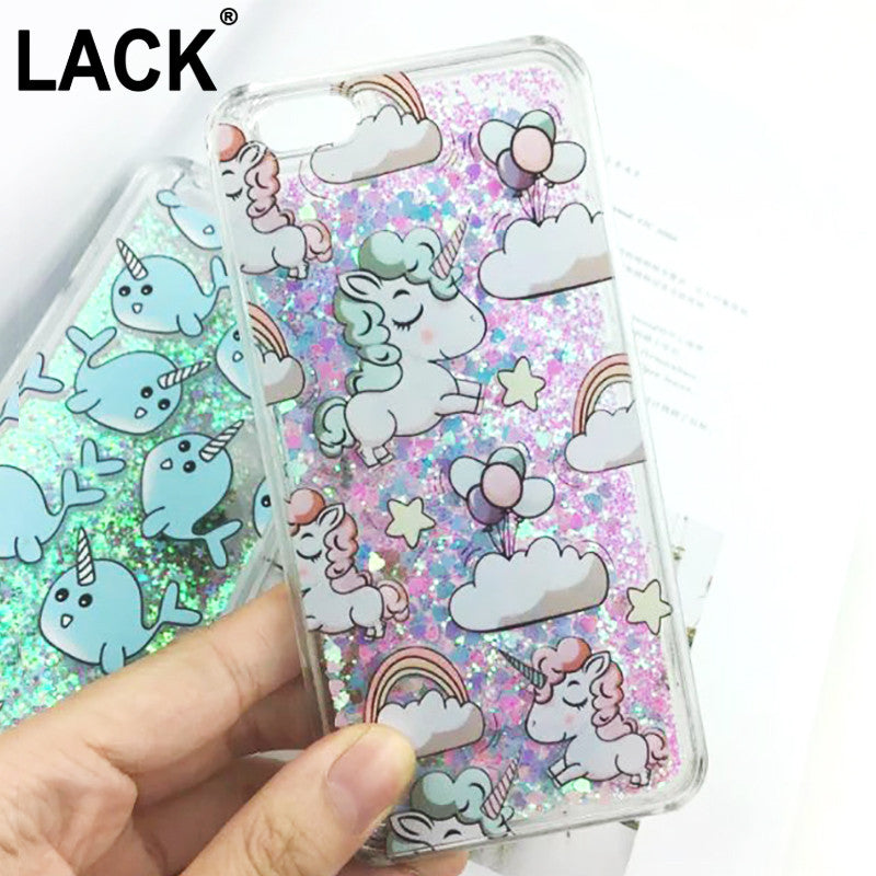 Glitter iPhone 6 Case Unicorn Liquid