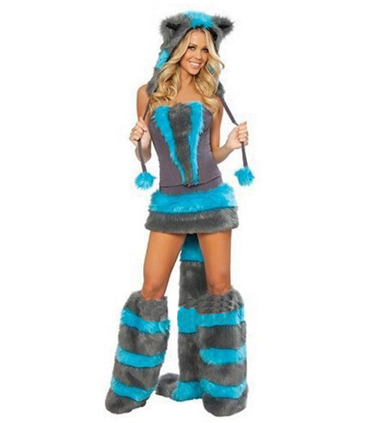 2016 New Blue Teddy Panda Wolf Girl costumes for Halloween costumes cat ladies clothing exports in Europe and America games  sc 1 st  TakeSupply.com : wolf girl costumes  - Germanpascual.Com