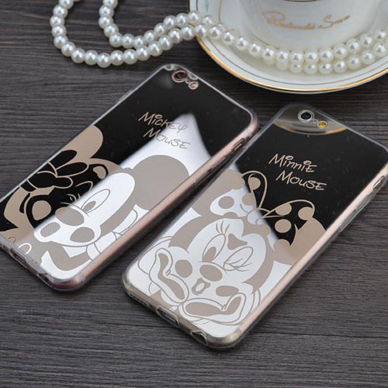Mickey and Minnie mouse mirror iphone