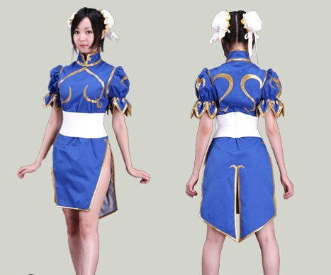 d8277ca92 Halloween costumes for women anime clothes Street Fighter Chun Li cosplay  costume for girls fancy dress game costume Cheongsam