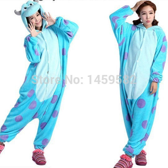 c45e1f485dec free shipping New Unisex Adult Sully Pajamas Cosplay Costume Animal Onesie  Monsters University Mike Sulley Sleepwear