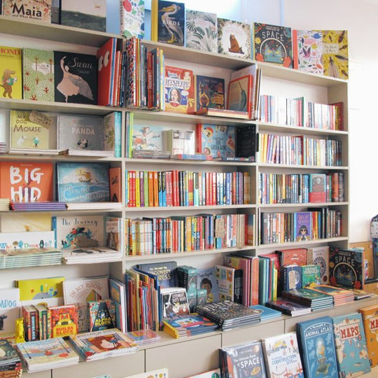 book shelves at Ottie and the Bea