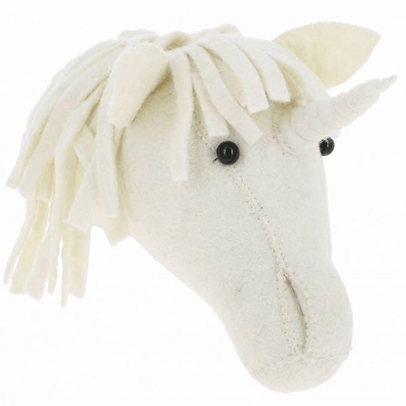 Unicorn Felt Head from Fiona Walker