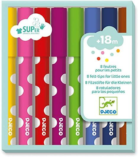 Djeco 8 Felt Tips for Little People