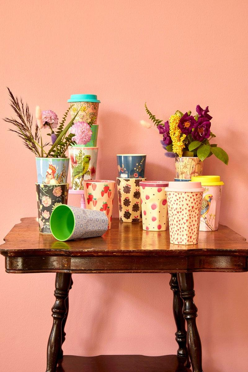 Rice dk Tall Melamine Cup - Flower Collage Print