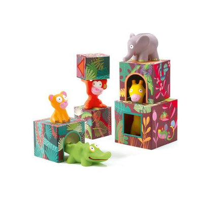 Maxi Topanijungle Stacking Cubes Djeco