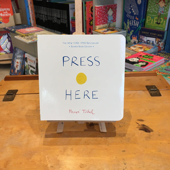 Press Here by Herve Tullet board back book
