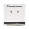 Rock Me Designs Mini Heart Stud Earrings