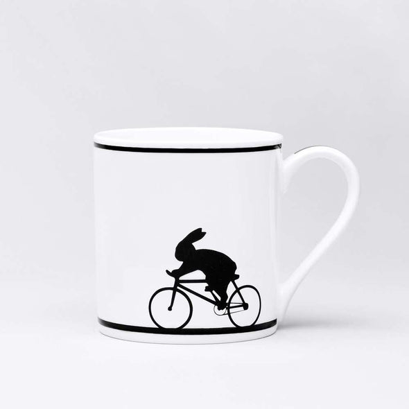 Ham Cycling Rabbit Mug