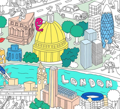 Giant Colouring Poster - London