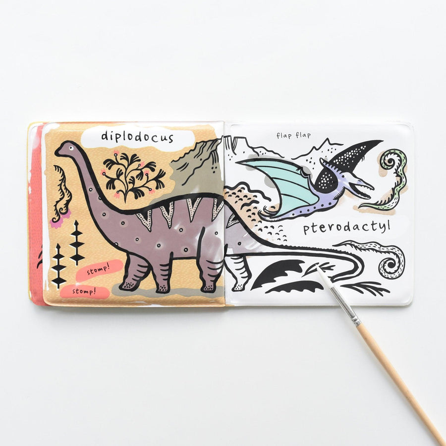 Wee Gallery Bath Book - Colour Me Who Loves Dinosaurs?