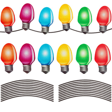 D-FantiX Reflective Christmas Car Magnets Set, Xmas Automotive Light Bulb Shaped Magnets