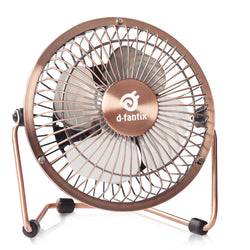 D-FantiX Mini 4 Antique Metal USB Desk Personal Fan Quiet (Bronze)
