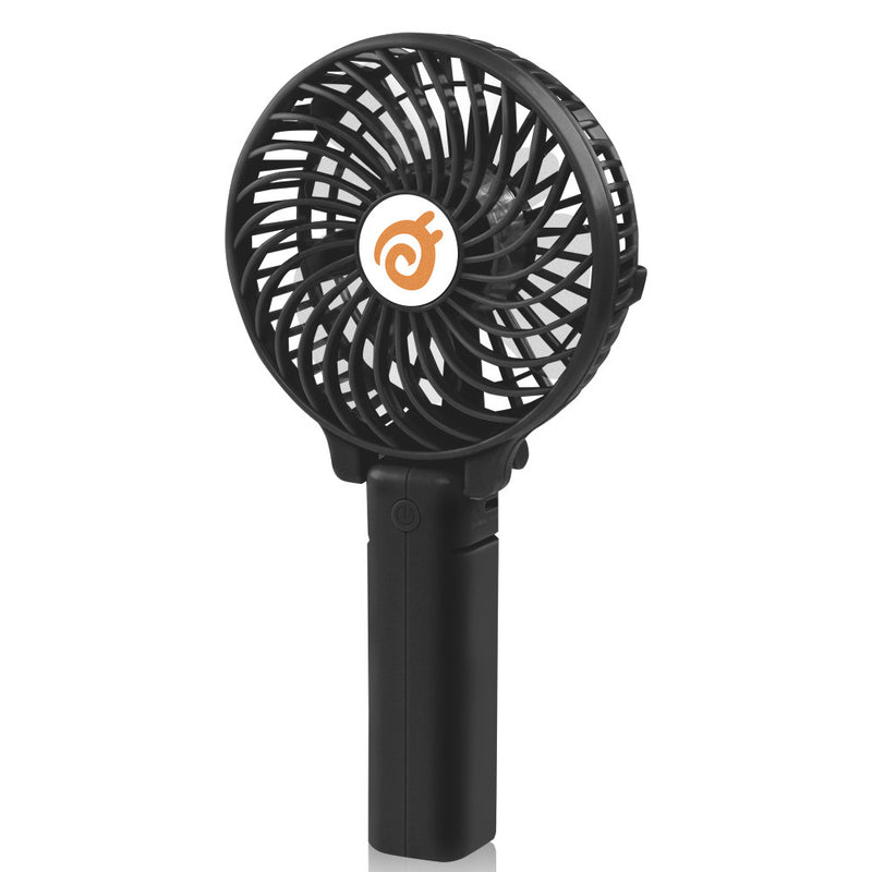 D-FantiX Small Portable Battery Operated Personal Fan Mini USB Rechargeable (Black)
