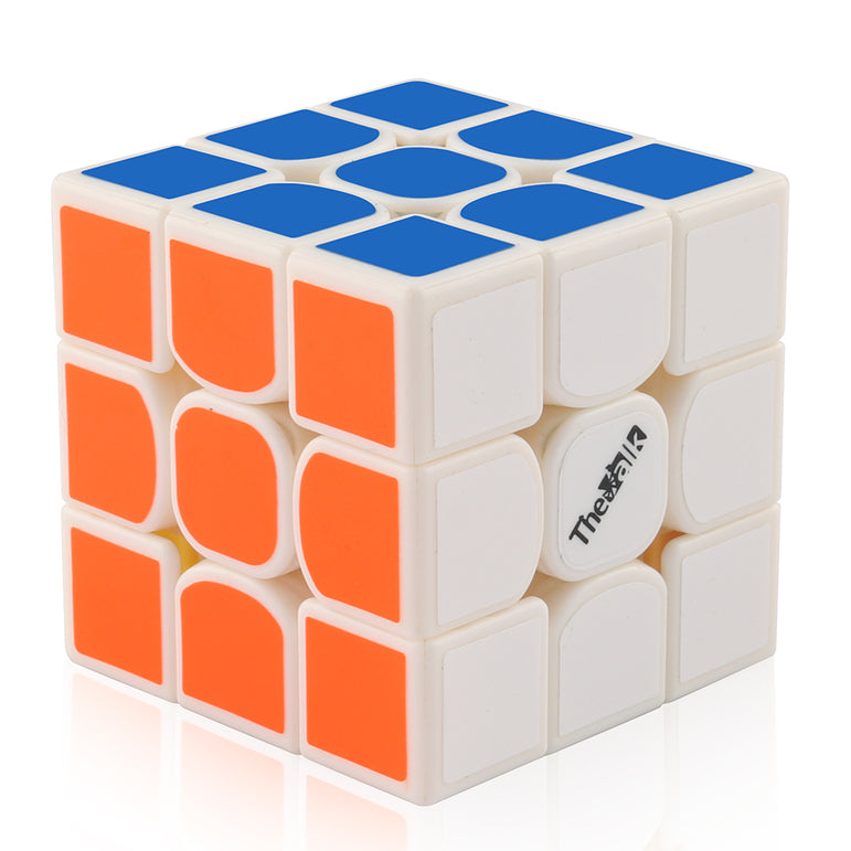 D-FantiX Qiyi Valk3 3×3 Mini Speed Cube Magic Puzzles White-base 47.4mm