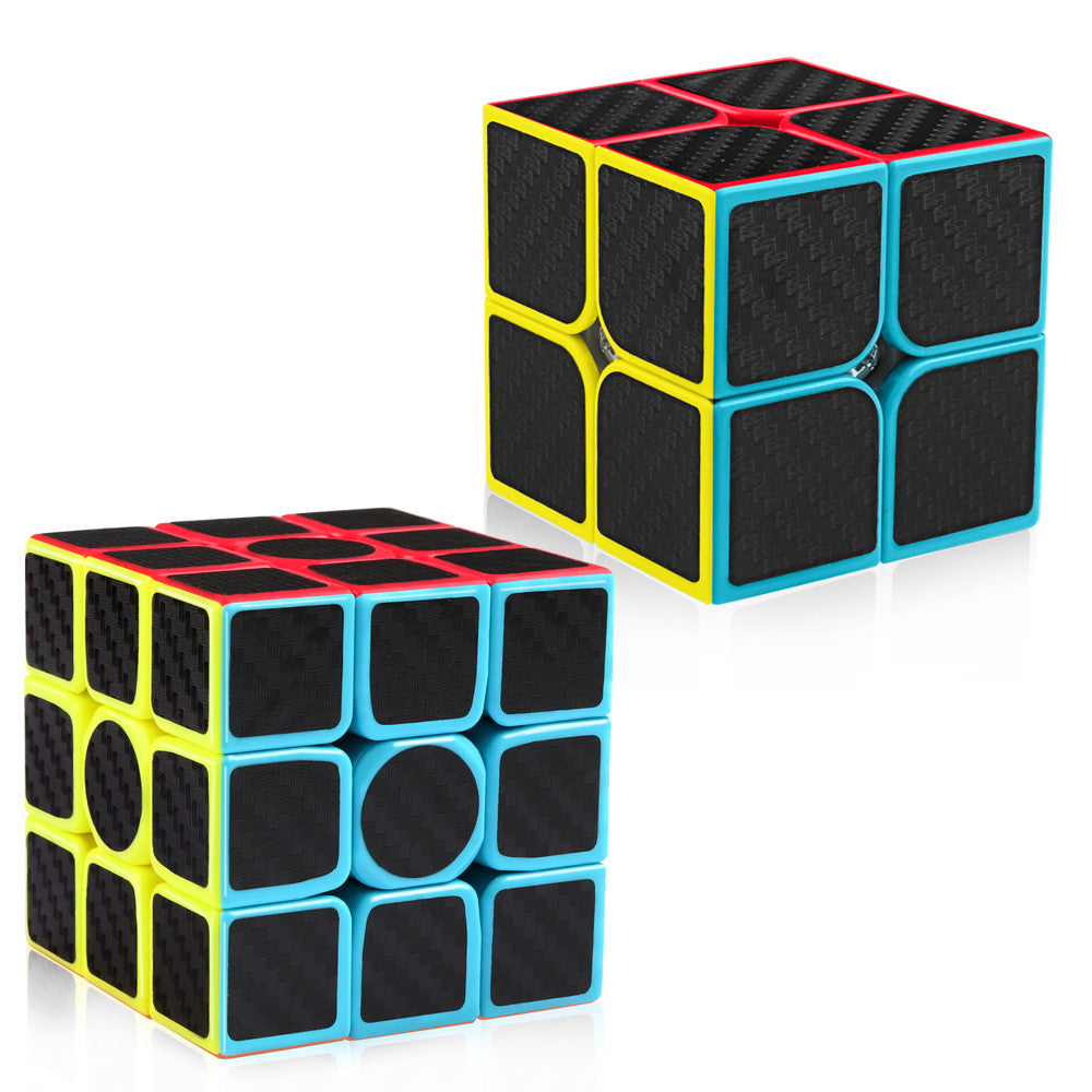 D-FantiX Carbon Fiber 2x2 3x3 Speed Cube Bundle Set