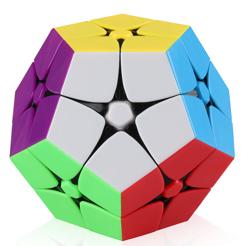 D-FantiX 2x2 Megaminx Stickerless Speed Cube Dodecahedron Magic Cube Puzzle Toy