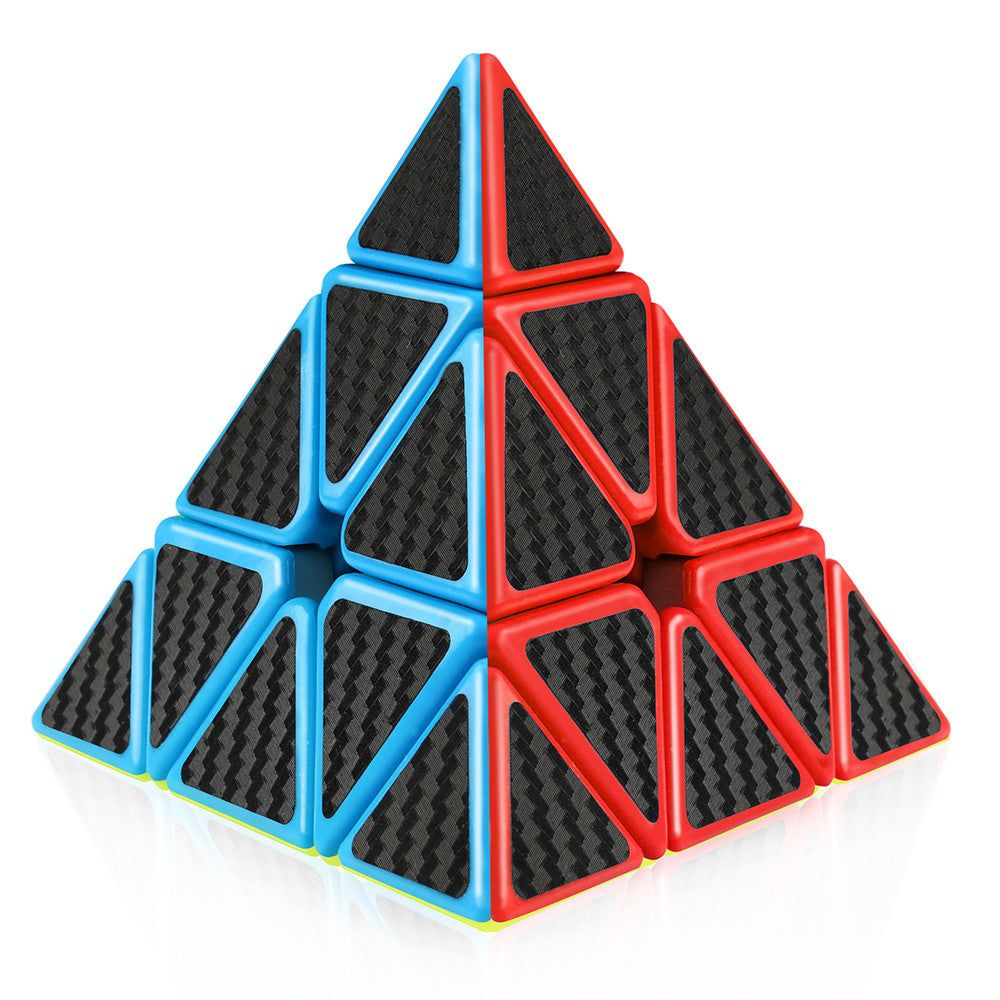 Pyraminx 3x3 Speed Cube Carbon Fiber Sticker
