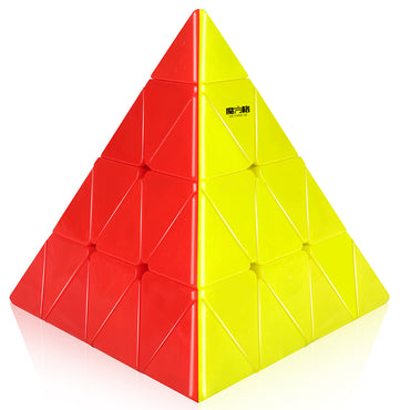 D-FantiX Qiyi Mofangge 4x4 Master Pyramid Magic Cube Stickerless