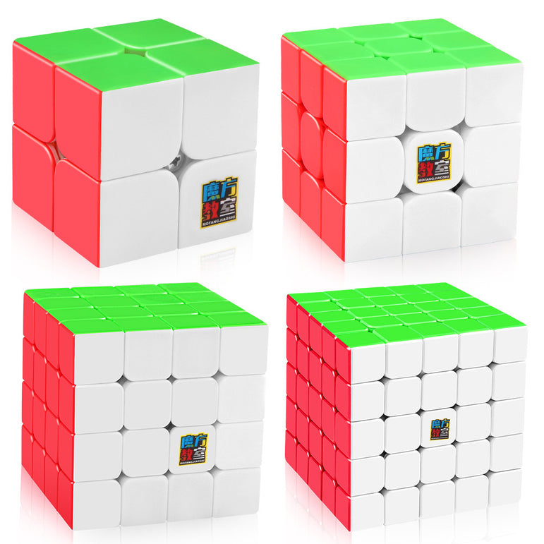 D-FantiX Moyu Mofang Jiaoshi Meilong 2x2 3x3 4x4 5x5 Stickerless  Speed Cube Bundle