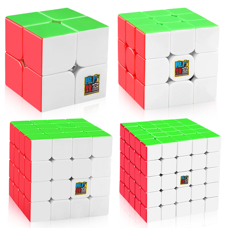 Moyu Mofang Jiaoshi MF2S 2x2 MF3S 3x3 MF4S 4x4 MF5S 5x5 Stickerless  Speed Cube Bundle