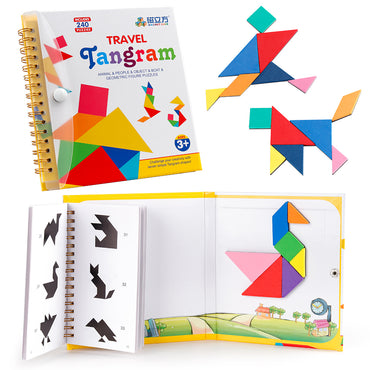 D-FantiX Travel Tangram Puzzle with 3 Set of Magnetic Tangram