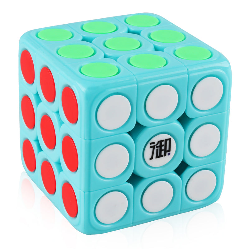 D-FantiX 3x3 Speed Cube Removable Cap Magic Cube 3x3x3 Brain Teaser Puzzles Learning Educational Toys for Kids Adults Blue