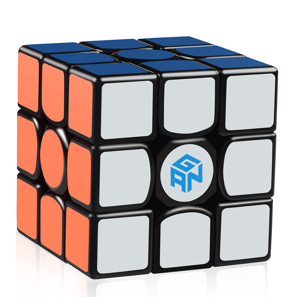 Gan 356 Air Master 3x3 Speed Cube Black with New Blue Cores