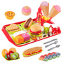 D-FantiX Fast Food Set, 28Pcs Pretend Playset Fake Food Toys Gift for Kids Toddlers