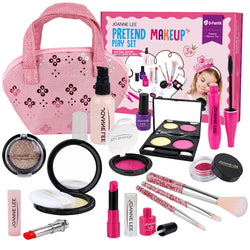 D-FantiX 15 PCS Kids Makeup Kit for Girl, Pretend Makeup Set for Toddlers