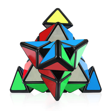 D-FantiX Qiyi Qiming Pyraminx 3x3 Speed Cube (Black)