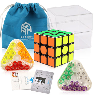 D-FantiX Gans 356 Air SM Magnetic Speed Cube 3x3 Puzzle Toy Black