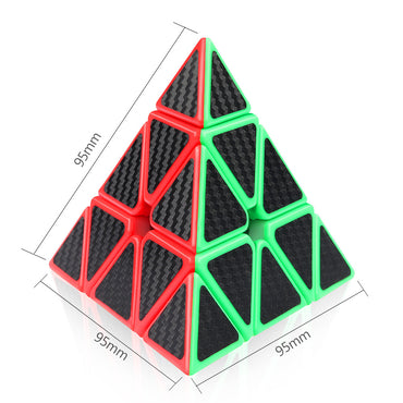 D-FantiX Pyraminx 3x3 Speed Cube Carbon Fiber Sticker