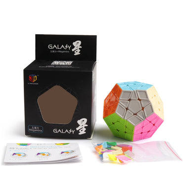 D-FantiX Qiyi X-Man Galaxy Megaminx Cube Sculpted Stickerless