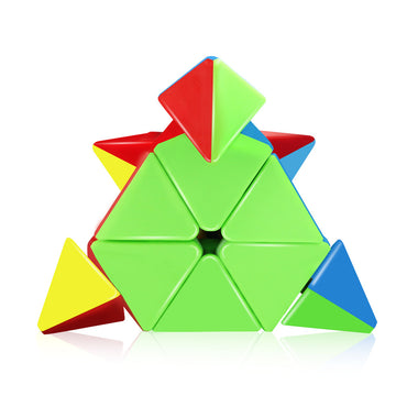 D-FantiX Qiyi Qiming Pyraminx Stickerless 3x3 Speed Cube